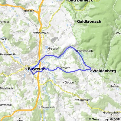Seulbitz - Weidenberg - über St2181 zurück