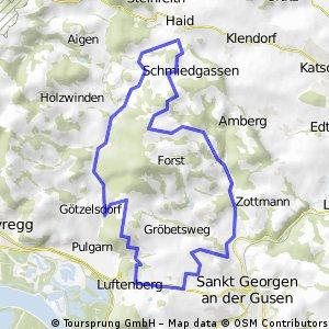 MTB Runde 20km - Luftenberg - Götzelsdorf - Haid - Hohenstein - St. Georgen