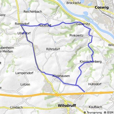 Taubenheim, Riemsdorf, Naustadt, Gauernitz, Constappel, Kleinschönberg, Klipphausen, Röhrsdorf, Taubenheim