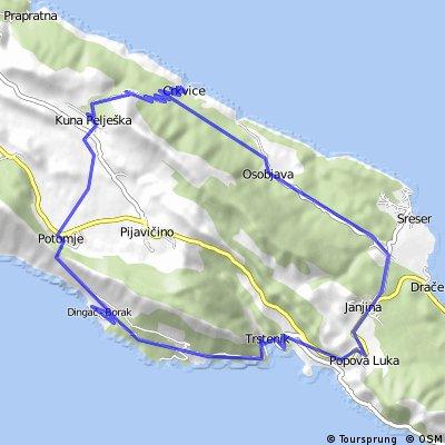 Dingac-Trstenik-Janjina-Crkvice-Potomje