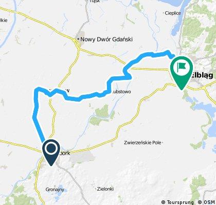 GPS - Wycieczka Nr 22/2013 - Nowy Staw - 18 sierpnia