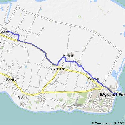 Oldsum Wiartshüs - Wyk Hafen