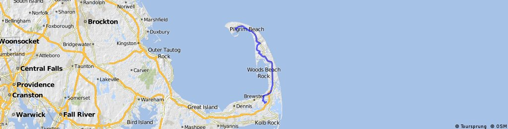 Cape Cod (Provincetown to Nickerson State Park) | Bikemap - Your ...