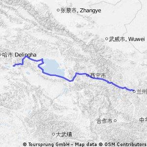 【チャルクリクルート1】蘭州 to 鳥蘭県 676km