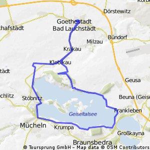 Bad Lauchstädt - Geiseltalsee (inkl. Umrundung) - Bad Lauchstädt