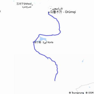 【カザフスタン国境ルート1】若羌 to 烏魯木斉 911km