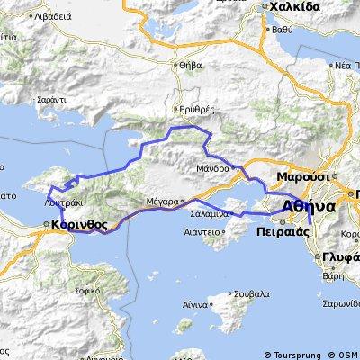 Athens, Corynthos via Psatha, Loutraki return via Salamina