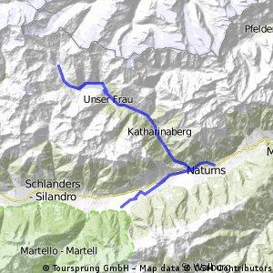 Vinschgau Schnalstal: Tarsch-Naturns-Vernagtsee-Kurzras