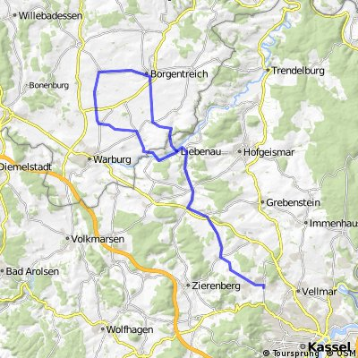 RTF vom RSC Weimar-Ahnatal 75,5(80)km Runde
