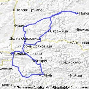 Попово- Елена-яз.Иовковци-Арбанаси-Шереметя-Антоново-Попово