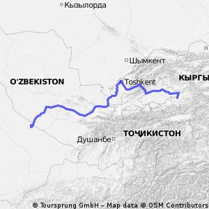 Cycling routes and bike maps in and around Turkmenabat Bikemap