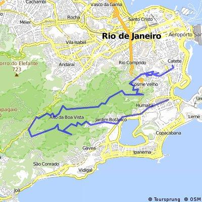 Casa x Laranjeiras x Paineras x Jardim Botânico x Botafogo x Metrô