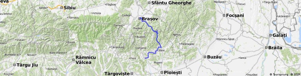 Brasov - Sacele - Cheia - Slanic - Brebu - Campina