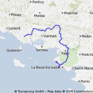 Étape 2 : PLOEMEL - LA TURBALLE (174,2 km)