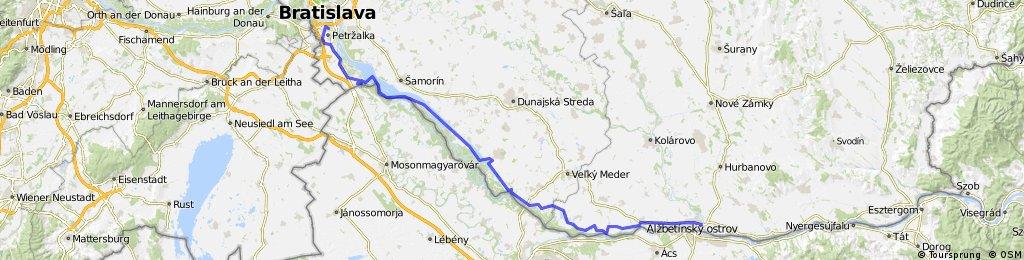 SK/Donauroute Bratislava - Komárno