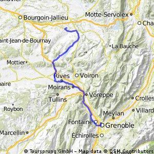 20130826 Saint-André-le-Gaz -> Lac de Paladru -> Sassenage -> Grenoble