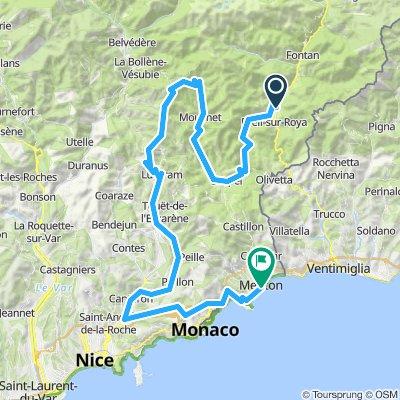 Breil - Sospel - Col de Turini - Menton
