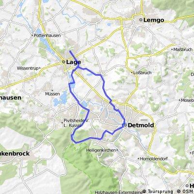 Schloß Detmold und Donoper Teich