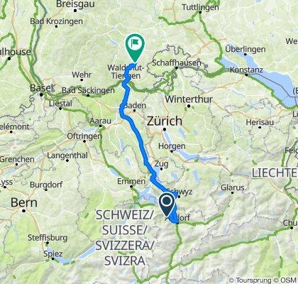 Torino - Foresta Nera: Giorno 4: Isenthal - Ühlingen-Birkendorf