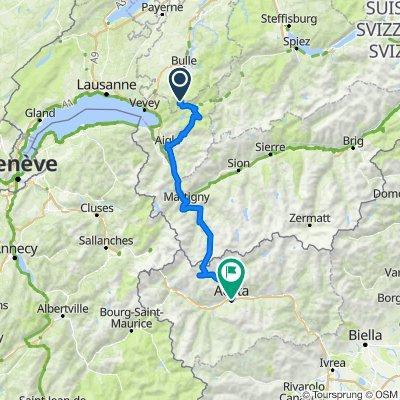 Torino - Foresta Nera: Giorno 8: Montbovon - Aosta