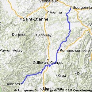 Etappe 19 Tour de France 2009 von Bourgoin-Jallieu nach Aubenas
