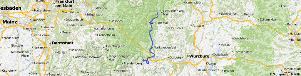 Mainradtour 2013 Sechste Etappe