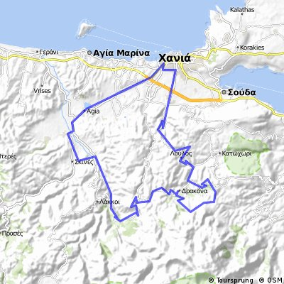 Cycling routes and bike maps in and around Chania Bikemap Your