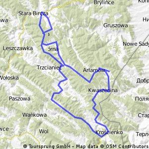Bircza-Arłamów-Ropienka-Bircza