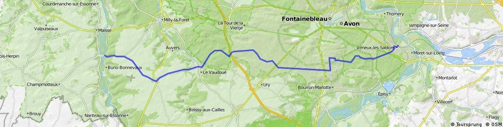 La forêt de Fontainebleau d'est en ouest