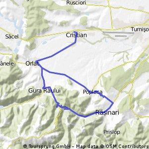 Cristian-Gura Raului-Calugaru-Rasinari-Poplaca-Orlat-Cristian