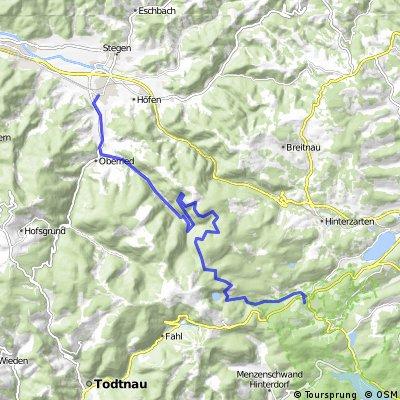 Feldberg-Bärental nach Kirchzarten