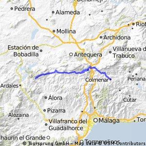 Colmenar to El Chorro 53km