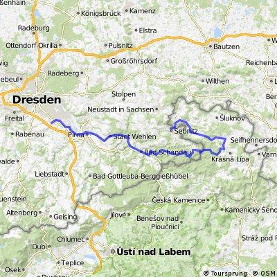 Sebnitz-Khaatal-Sächs. Schweiz-Dresden-Lockwitz