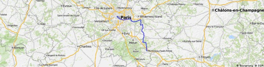 Route Tour de France 2009, Etappe 21 - 164 km