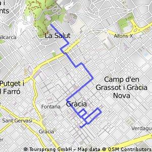 Ruta de Parc Guell a  Gracia