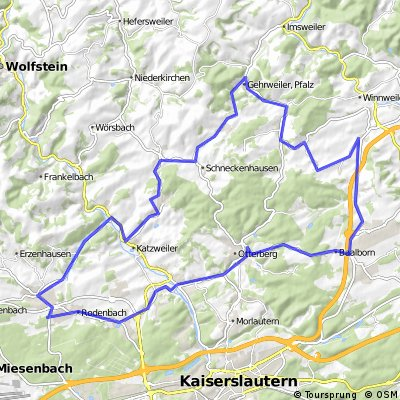 Tour Lohnsfeld über Potzbach