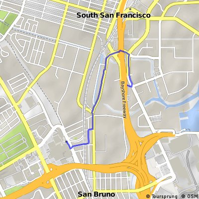 Cycling Routes And Bike Maps In And Around South San Francisco - San francisco bike map