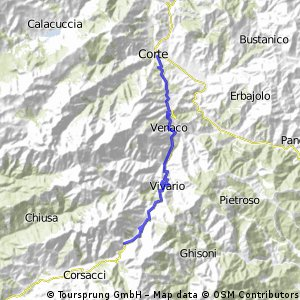 Corse from Col de Vizzavona to Corte