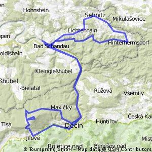 Bad Schandau - Hoher Schneeberg - Kirnitzschtal (120km)
