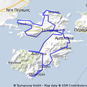 Cycling Routes And Bike Maps In And Around Salamina Bikemap