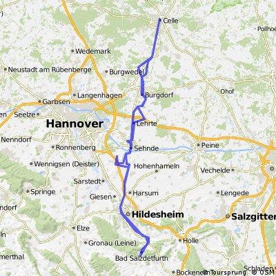 Bad Salzdetfurth > Celle und wieder zurück