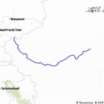 【中国キルギス国境ルート】若羌 to カシューキルギス南国境 1680km