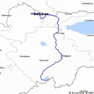 【中国キルギス国境ルート】トルガルト峠(キルギス中国国境)to ビシュケク 517km