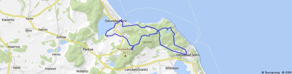 Ostseebad Sellin - Granitz - Ostseebad Binz - Ostseebad Sellin
