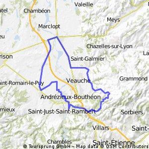 Saint-Just / La Fouillouse / St-Héand / St-Bonnet / Chamboeuf / Cuzieu / Montrond / Boisset / Sury / Veauchette / St-Cyprien / Andrézieux / St-Just