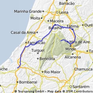 Cycling Routes And Bike Maps In And Around Óbidos Bikemap Your - Portugal map obidos