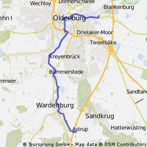 Oldenburg Testfahrt