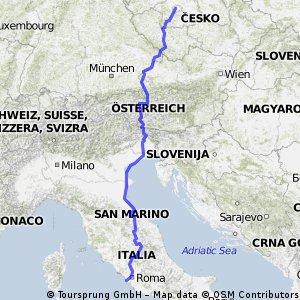Expedice Flaminia Řím - Praha 2013