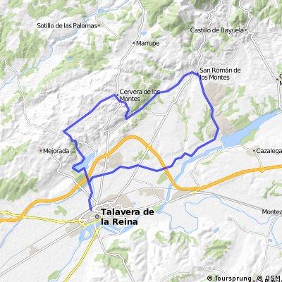 Talavera - Segurilla - Cervera - Pepino- San Román - Talavera