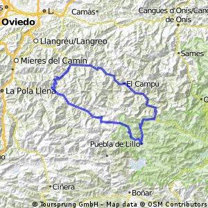 Puebla de Lillo-Tarna-San Isidro-Puebla de Lillo